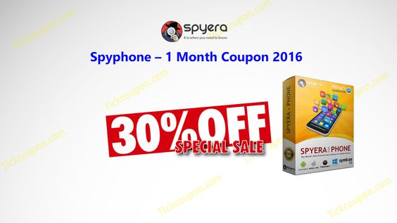 Spyphone – 1 Month Coupon for 30% Discount http://tickcoupon.com/coupons/spyphone-1-month-coupon-20-discount