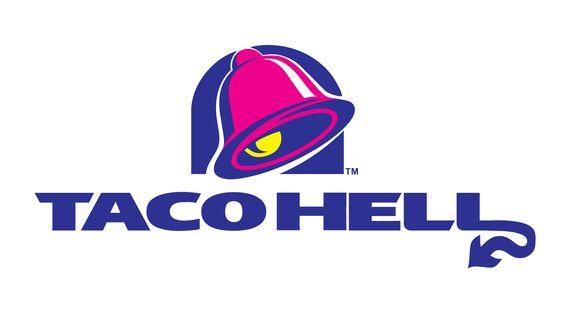 Taco Hell | combining logos taco hell