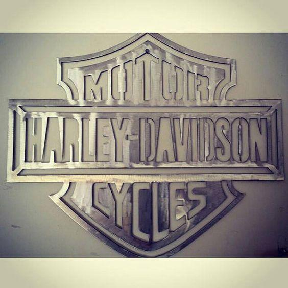 Metal Wall Art, Metal Walls And Harley Davidson On Pinterest