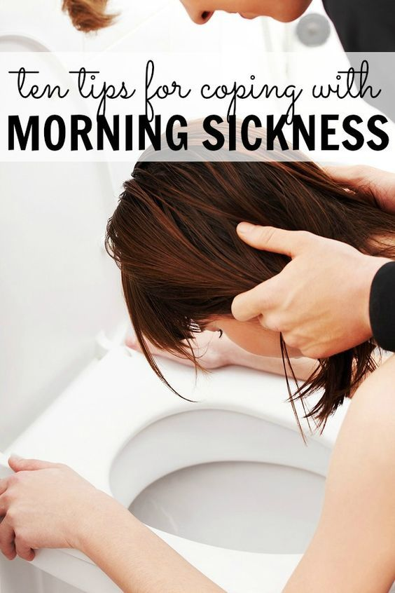 Ten tips for coping with morning sickness during pregnancy.