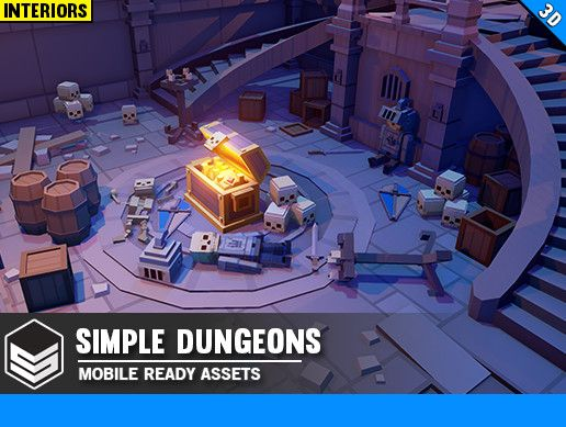 Simple Dungeons Cartoon Assets Unreal Engine Simple Unity Games