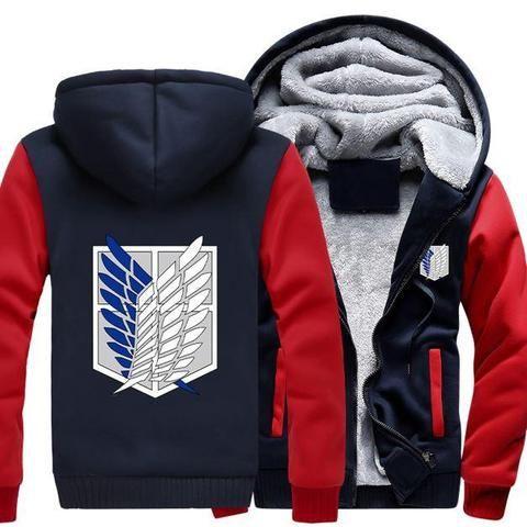 Hoodie Sweatshirt,Attack on Titan Recon Corps,zipper Jacket Coat Women/'s// girl/'