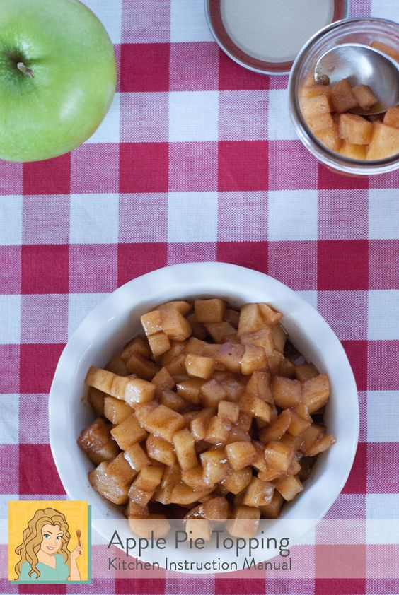Apple Pie Topping - An apple pie filling you can use to top your oatmeal or yogurt! Breakfast and dessert in one! | Kitchen Instruction Manual |