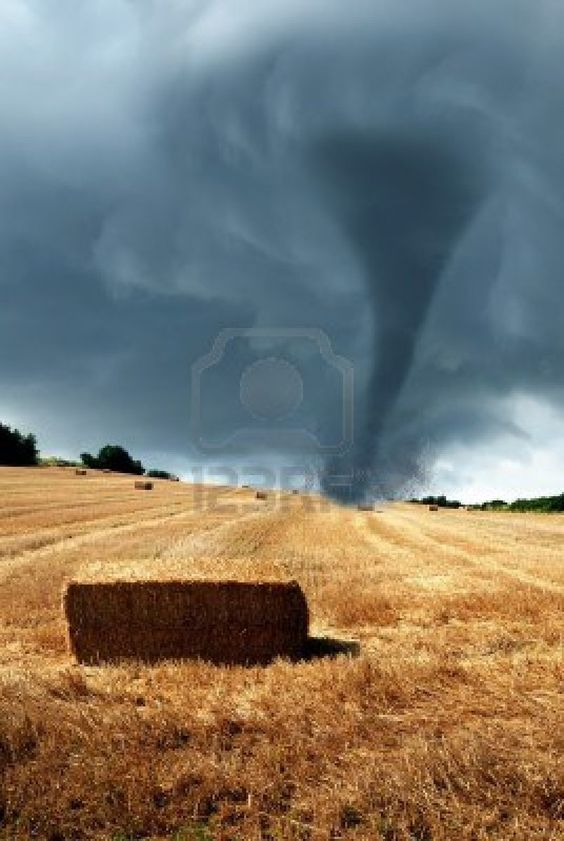 Twister over the countryside