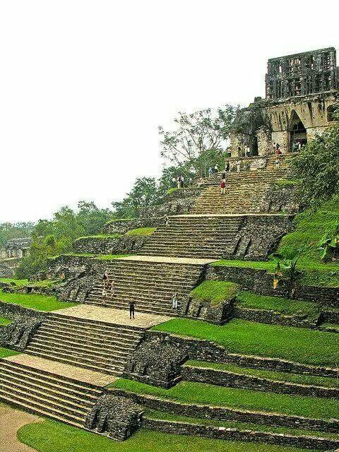 Palenque archaeological site, Chiapas, México