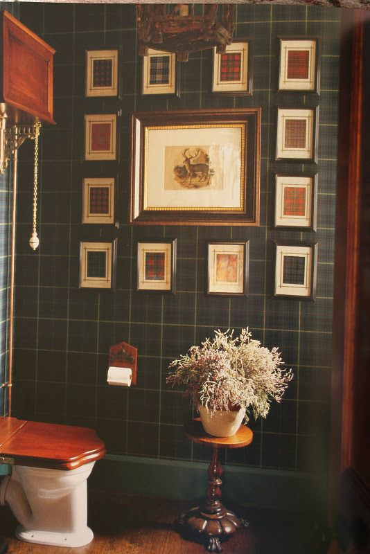 Bathroom Plaid Green Glen Feshie Scotland Design By Denton Gardener For The Home