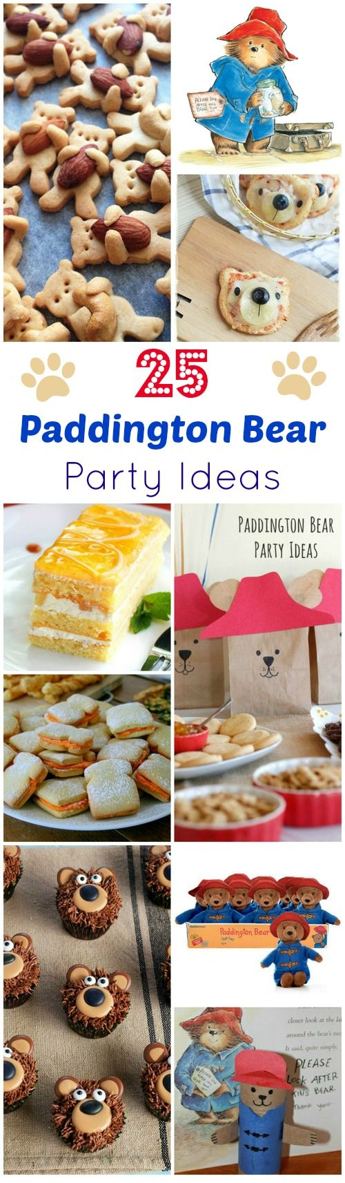 Paddington is back! 25 Paddington Bear Party Ideas. Perfect for classroom visit w/ #PaddingtonBear