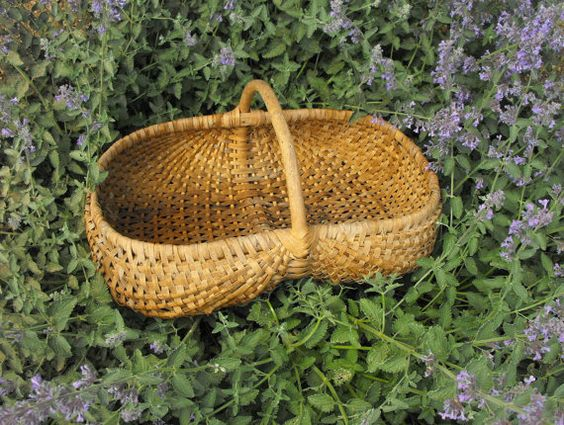 Antique French Basket for gathering treats from the garden.