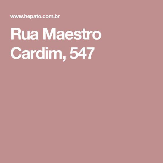 Rua Maestro Cardim, 547