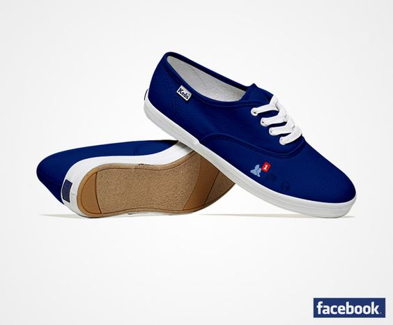 Shoes in the styles of different social media sites - Facebook