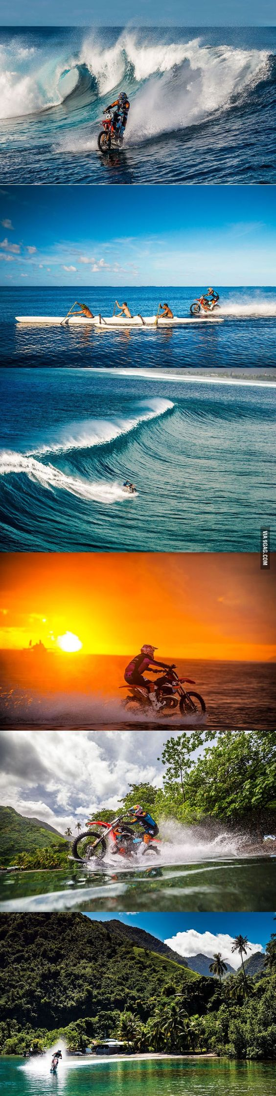 Dirt Bike Surfing , you can die in peace now - 9GAG