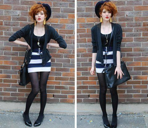 Simple and nice looking outfit! I absolutely adore it! The outfit seems very sassy and sexy in my opinion but still manages to be modest, I like that.