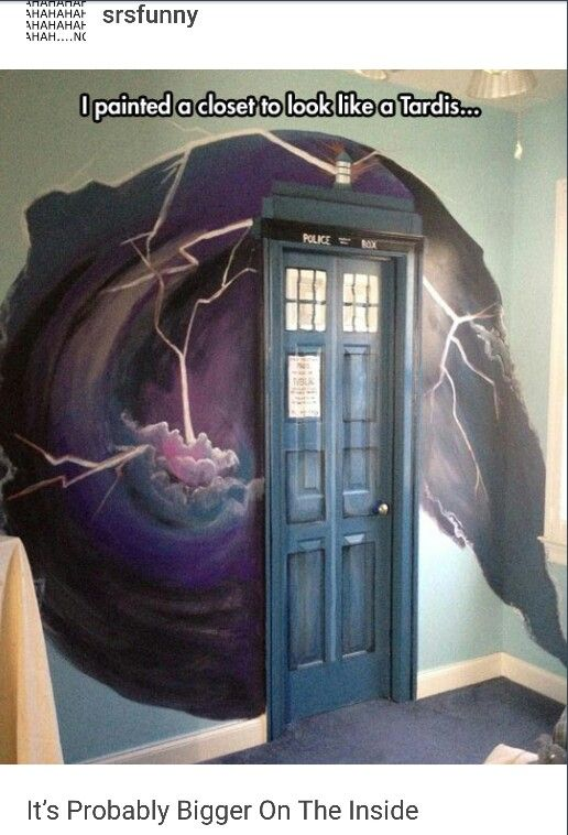 The Tardis. (Dr. Who). ☺