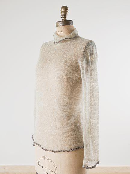Fine Mohair Pullover | www.habutextiles.com Habu Textiles and Yarns 135 W 29th St, Ste 804 New York, NY 10001 212-239-3546 habu@habutextiles.com www.habutextiles.com Booths: 813,815