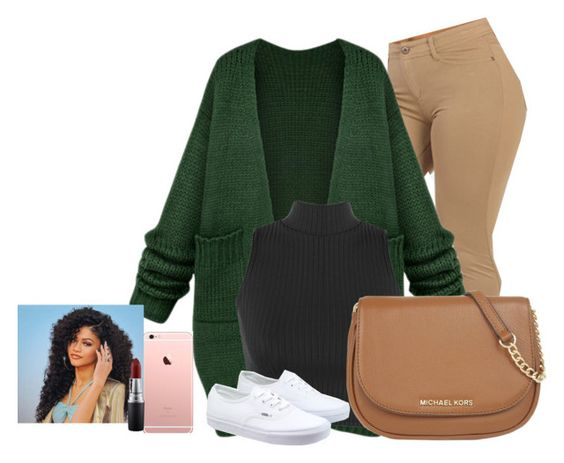 """""""Untitled #211"""" by clarinet4ever ❤ liked on Polyvore featuring WearAll, MICHAEL Michael Kors, Vans and MAC Cosmetics"""