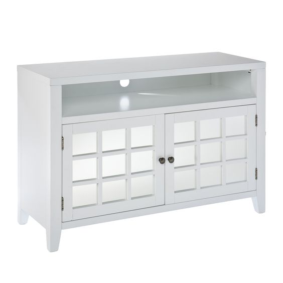 "Chapman White TV/ Media Stand | Overstock.com - 42.25"" Wide - $310"
