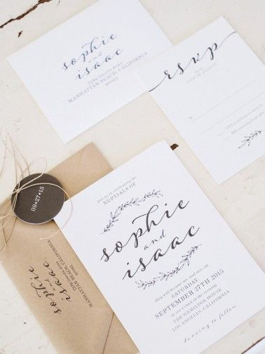 Neutral wedding invitations | photography by http://www.whiteivoryphotography.com
