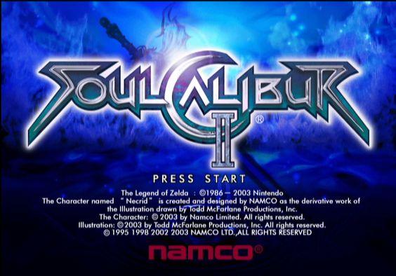 soul calibur 2 title screen gamecube