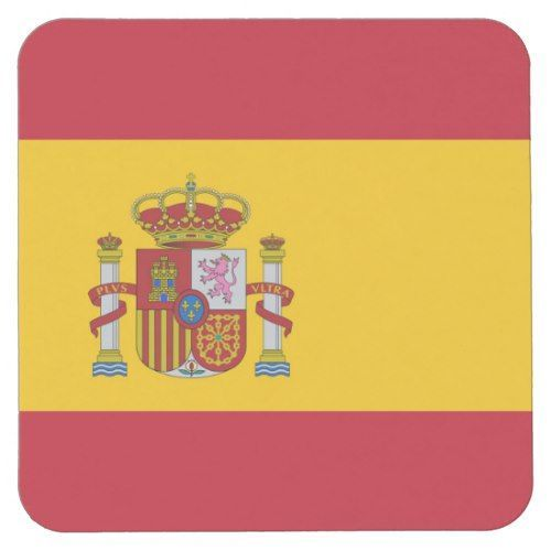 National Flag Of Spain Spain Flag Spanish Stripes Red Yellow Country National Official Symbol Sovereign Celebration Freed In 2020 Spain Flag Square Paper Paper Coaster
