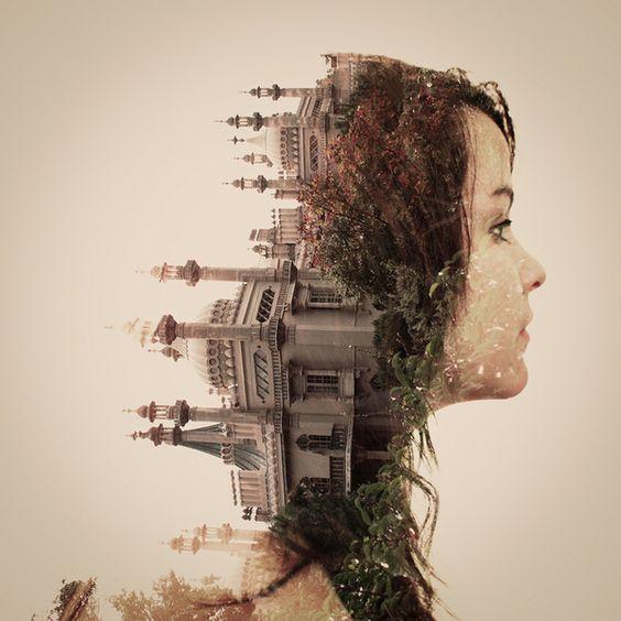Faith is Torment | Art and Design Blog: Double Exposure Portraits by Dan Mountford