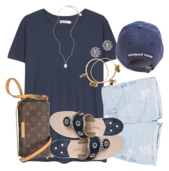 """""""700????"""" by racheld24 ❤ liked on Polyvore featuring Organic by John Patrick, Alex and Ani, MANGO, Louis Vuitton, Jack Rogers, J.Crew and Kendra Scott"""