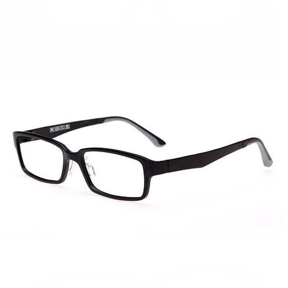 Lightweight Plastic Frame Glasses : Matte Black Lightweight Plastic Rectangle Glasses Frame ...