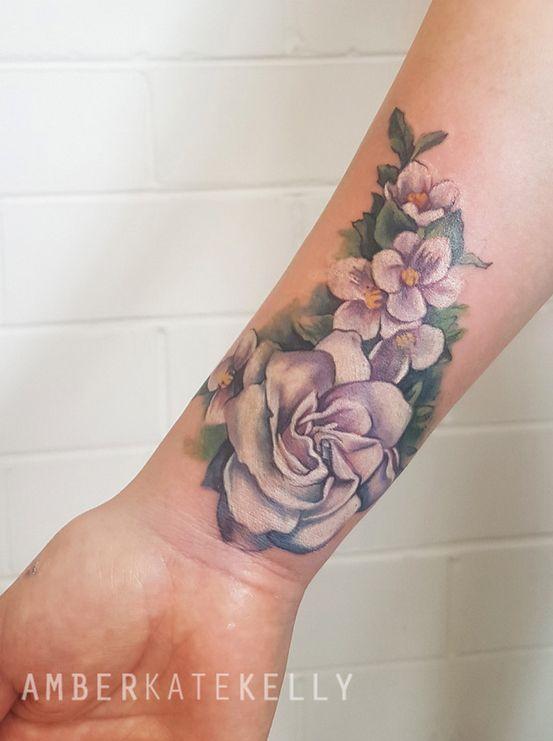 White Ink Gardenia And Jasmine Floral Tattoo Tattoos Tattoo Artists Sydney White Ink