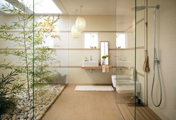 Duschkabine Garten Bad Gestaltung Ideen Deko