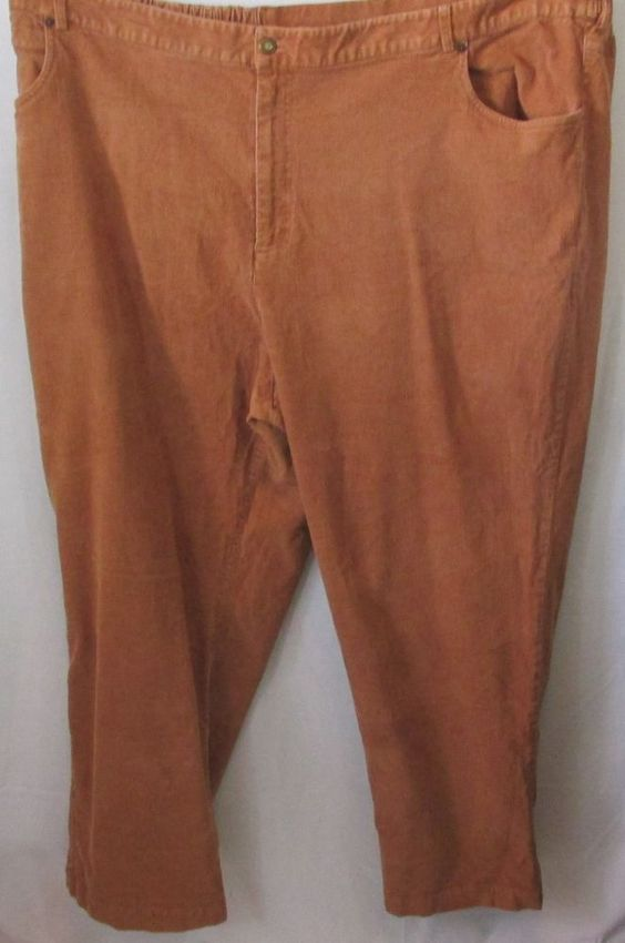 Liz & Me - Plus Size Light Brown Corduroy Pants, Size 30 #LizMe ...