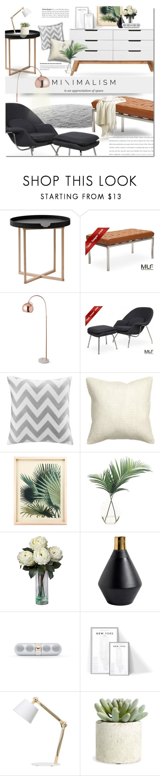 """Minimalism"" by dian-lado ❤ liked on Polyvore featuring interior, interiors, interior design, home, home decor, interior decorating, .wireworks, womb, Intelligent Design and H&M"