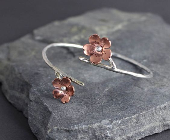 Cherry Blossom Branch Cuff gifts for her Ready Made by HapaGirls, $48.00