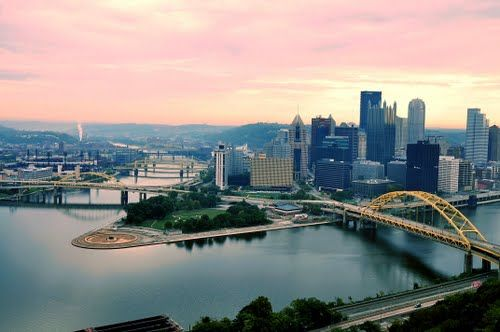 Pittsburgh, Pennsylvania. Headed here to see my roommate!