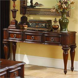 Trent Home Prenzo Sofa Table in Warm Brown Finish