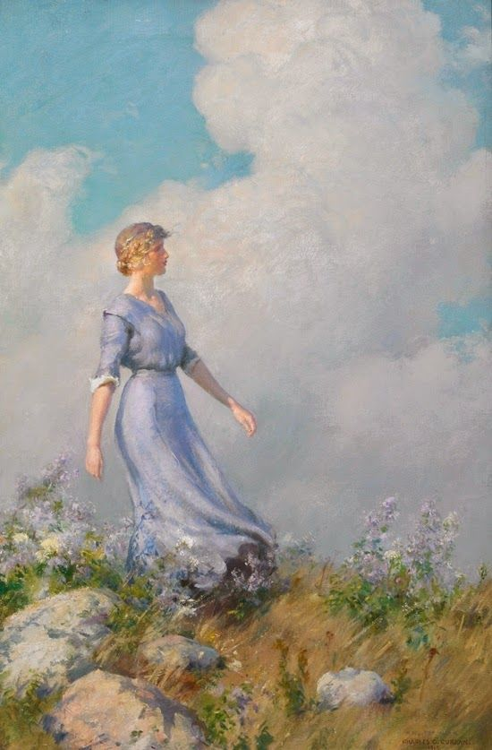 ~ Charles Courtney Curran ~ American painter, 1861-1942: Billows: