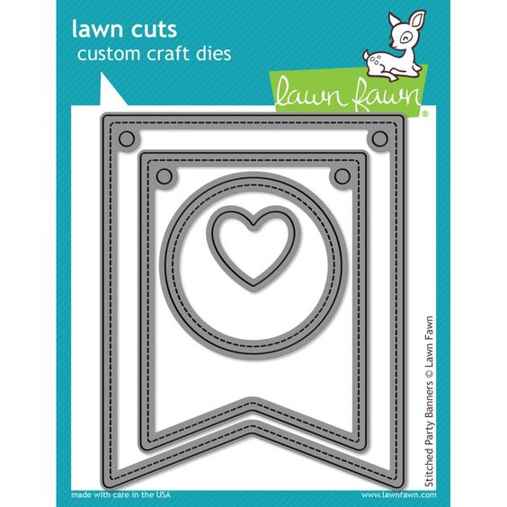 Craftie-Charlie: Lawn Fawn Cuts Stiched Party Banners Universal Custom Craft Cutting Dies LF687 £26.95