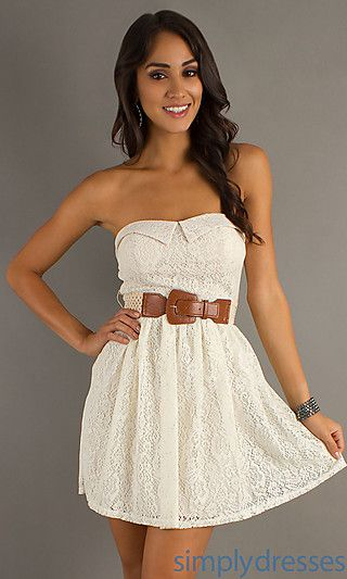 Dresses Formal Prom Dresses Evening Wear: Short Strapless Dress ...