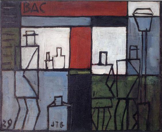 Calle y café, 1929