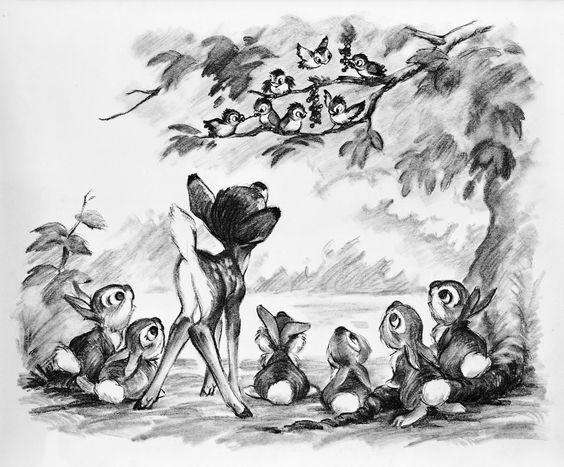 バンビととんすけと小鳥