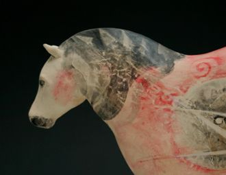 Hand Painted Ceramic Horse by Rachel Ricketts The Orange Street Gallery