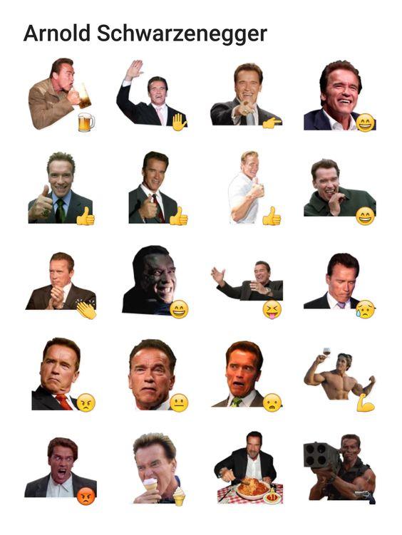 Arnold Schwarzenegger sticker pack Telegram stickers