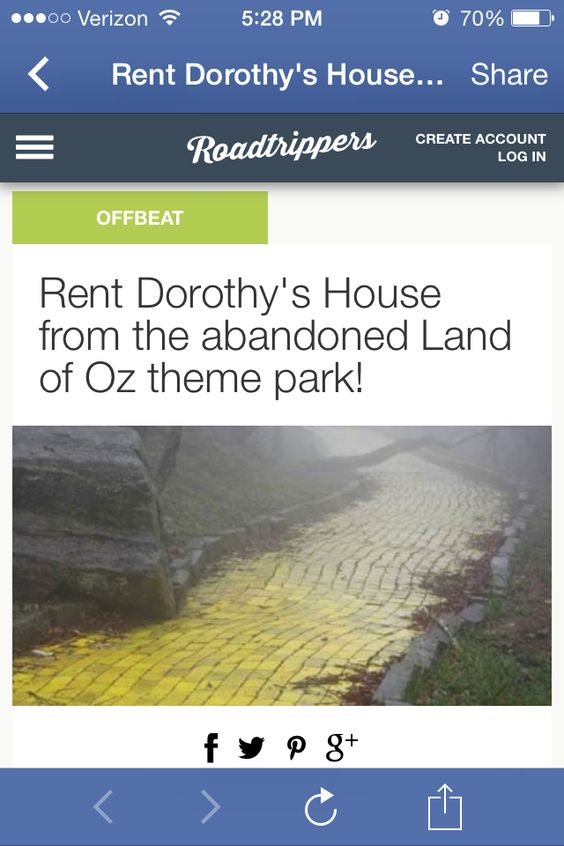 Wizard of Oz camping trip?