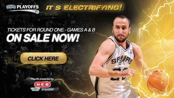Spurs Playoffs pre-sale tickets on sale now! Get your seats for games A & B