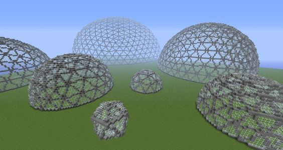 Geodesic Domes Minecraft Project Minecraft Pinterest