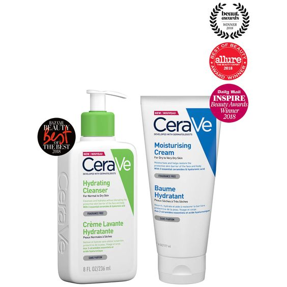 Cerave Best Sellers Duo Fragrance Free Products Moisturizer Cream Cerave
