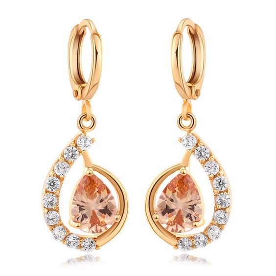 Fake Gold Earrings 18K gold plated yellow zircon
