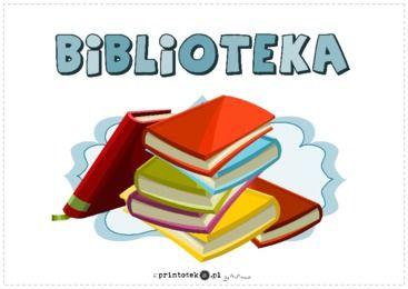 Biblioteka - tabliczka - Printoteka.pl