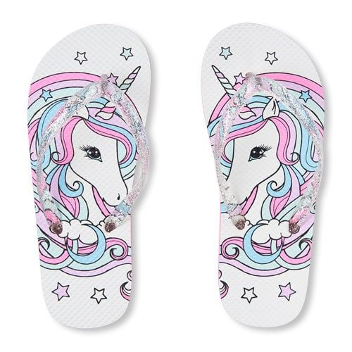 Girls Unicorn Flip Flops | Kids flip