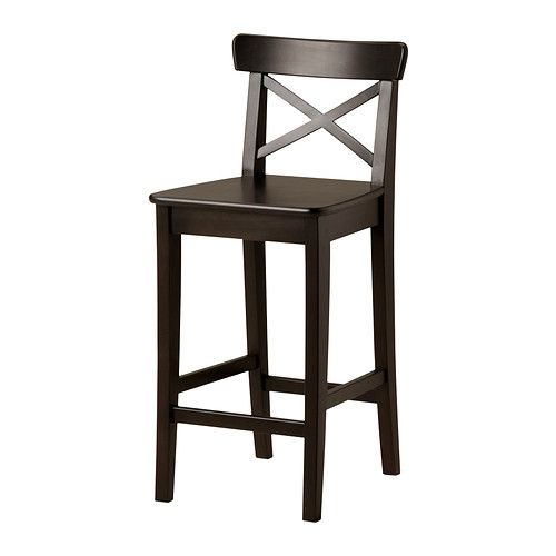 Ikea Ingolf Bar Stool With Backrest 63 Cm With