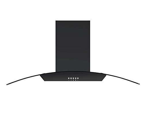 Cookology ILD900GL Stainless Steel 90cm Curved Glass Island Chimney Cooker Hood