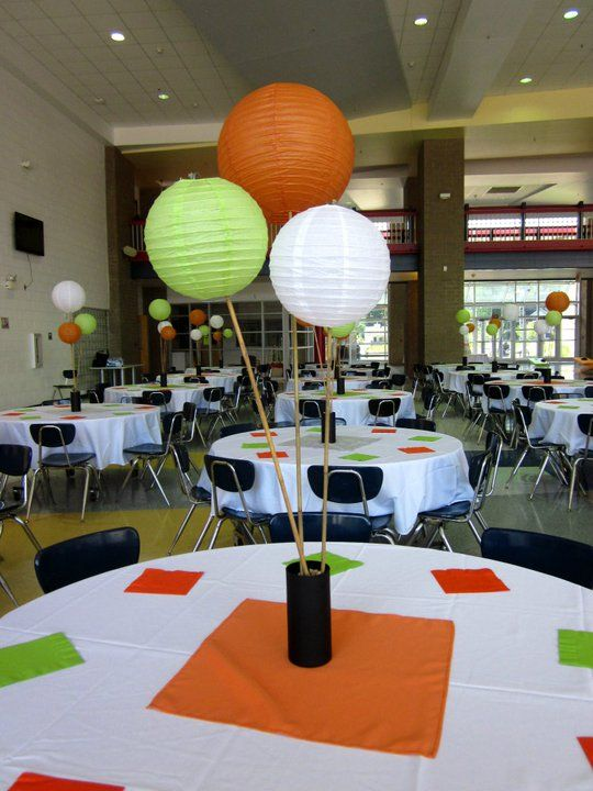 Paper lantern centerpieces wedding centerpiece